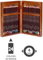 Derwent Coloursoft Colouring Pencils, Set of 24 in Wooden Gift Box, Professional Quality, 2300153
